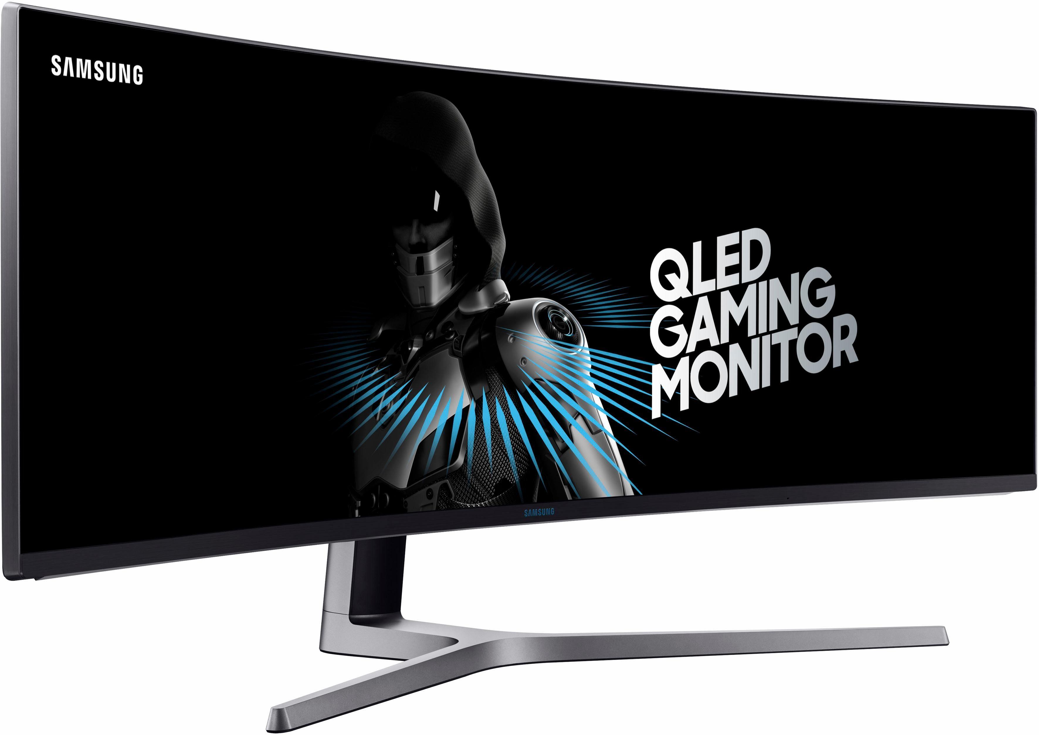 Samsung LC49HG90DMUXEN LED-Monitor (3840 x 1080 Pixel, Full HD, 1 ms Reaktionszeit, Mega DCR)