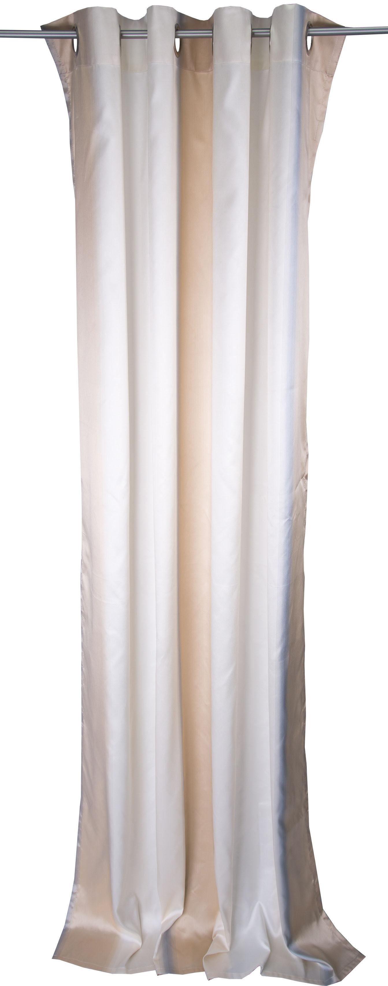 Vorhang, Linne, »DANA«, mit Ösen (1 Stück)