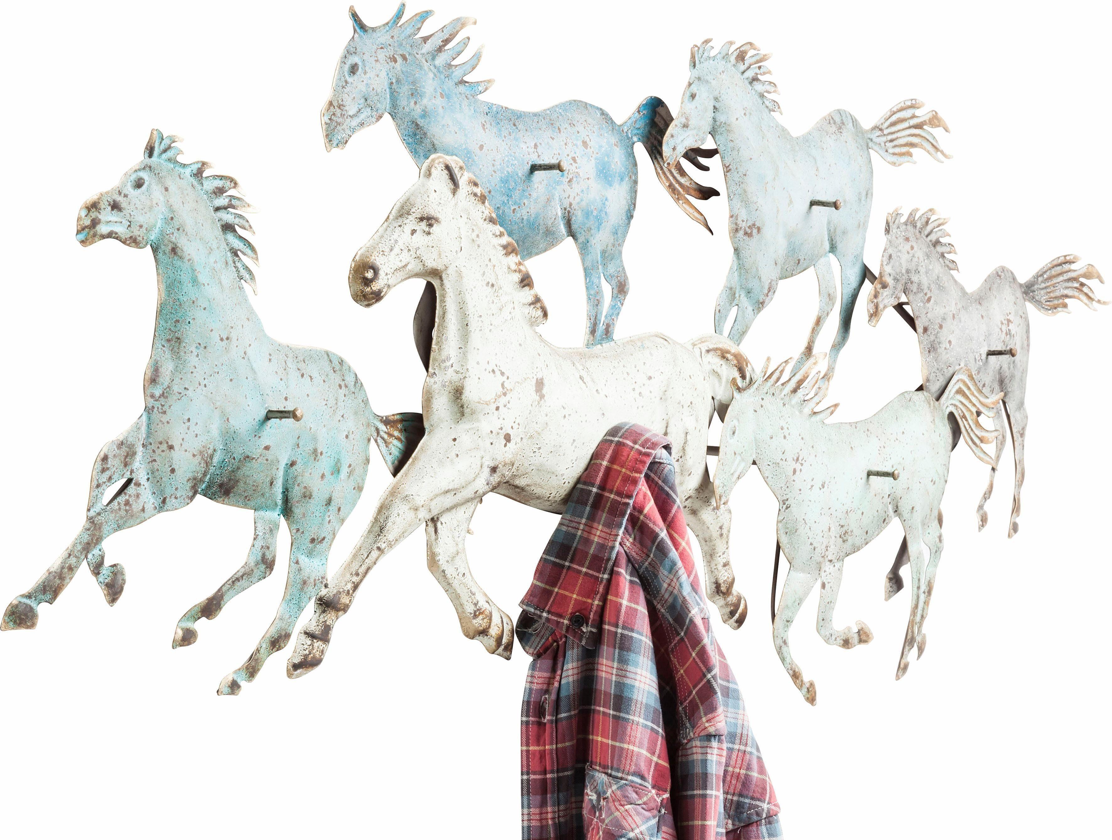 KARE Design Garderobenleiste Horses Colore