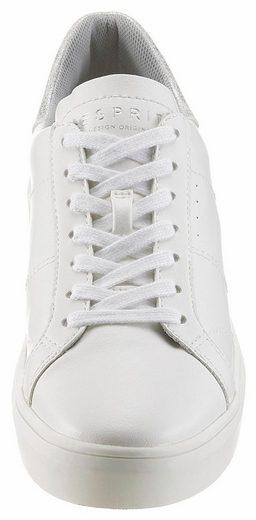 Esprit Elda Lace Up Sneaker, Im Basic-look