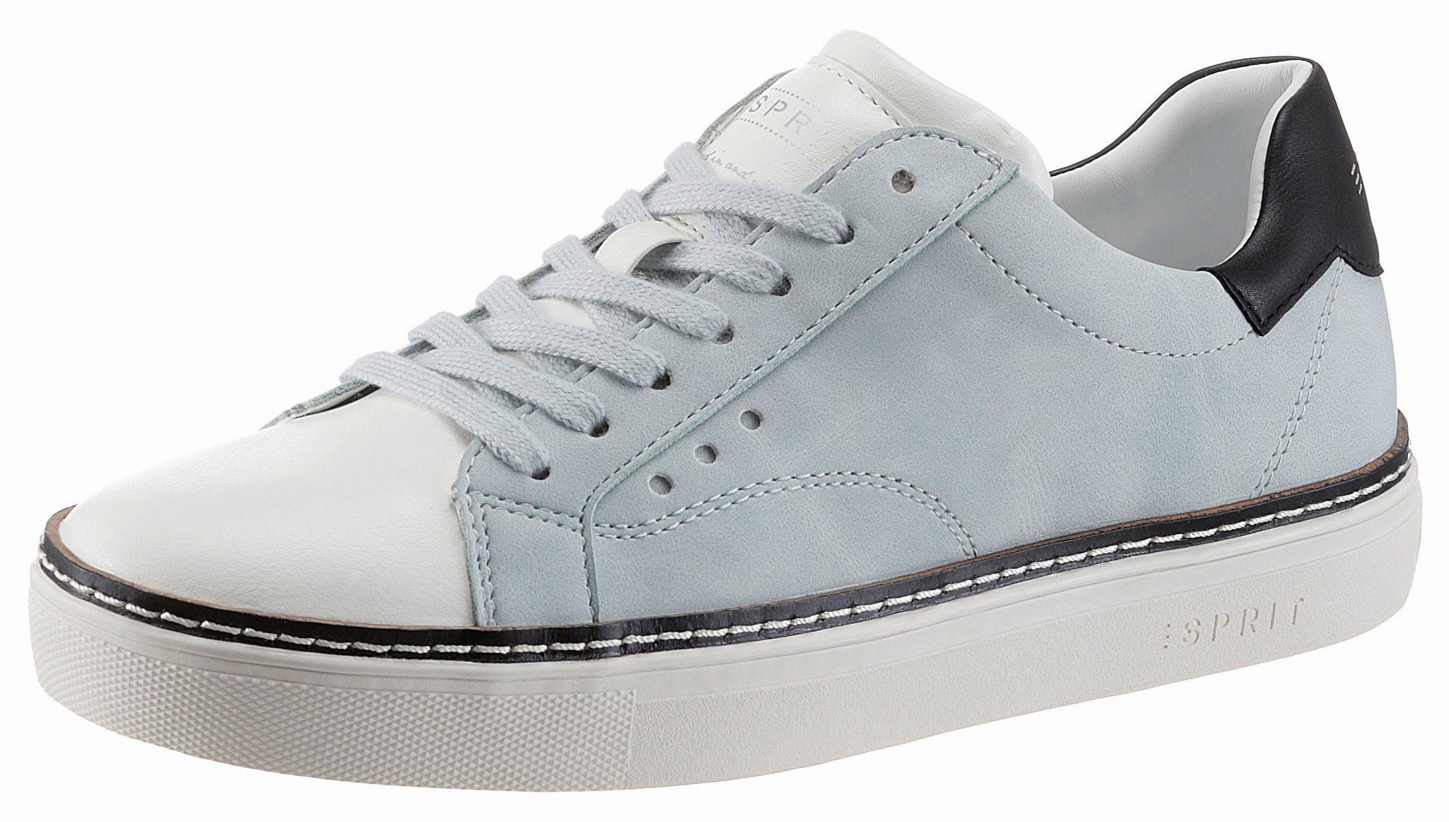 Esprit Nicolette LU Sneaker, mit Kontrastbesatz  pastellblau