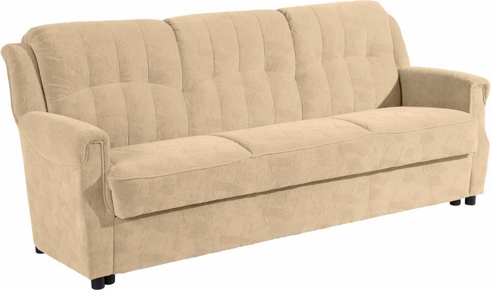 3 sitzer sofa manhattan inklusive bettfunktion for Couch mit bettfunktion und bettkasten