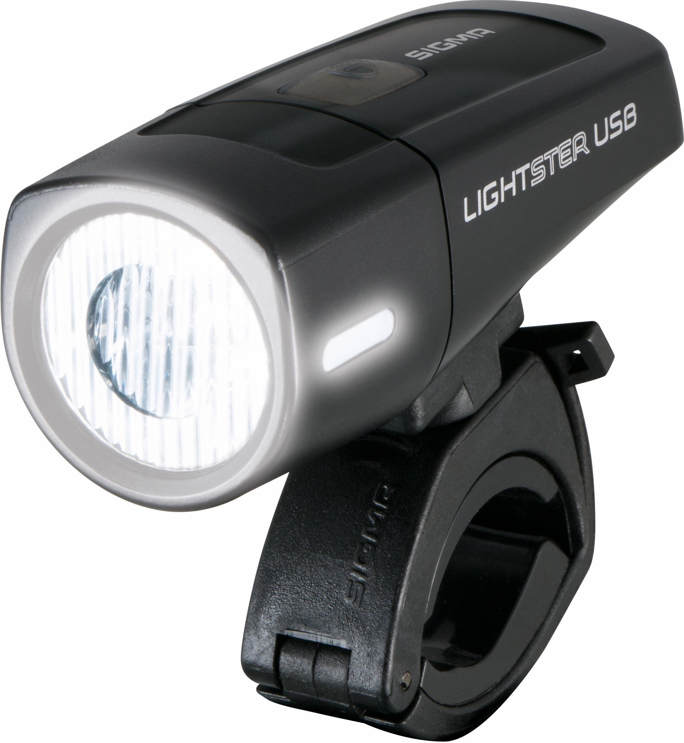 Sigma Fahrradfrontleuchte schwarz, »LIGHTSTER USB«