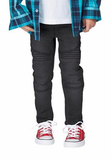 Arizona Stretch-Jeans, schmale Form mit gesteppten Einsätzen und Ziernähten