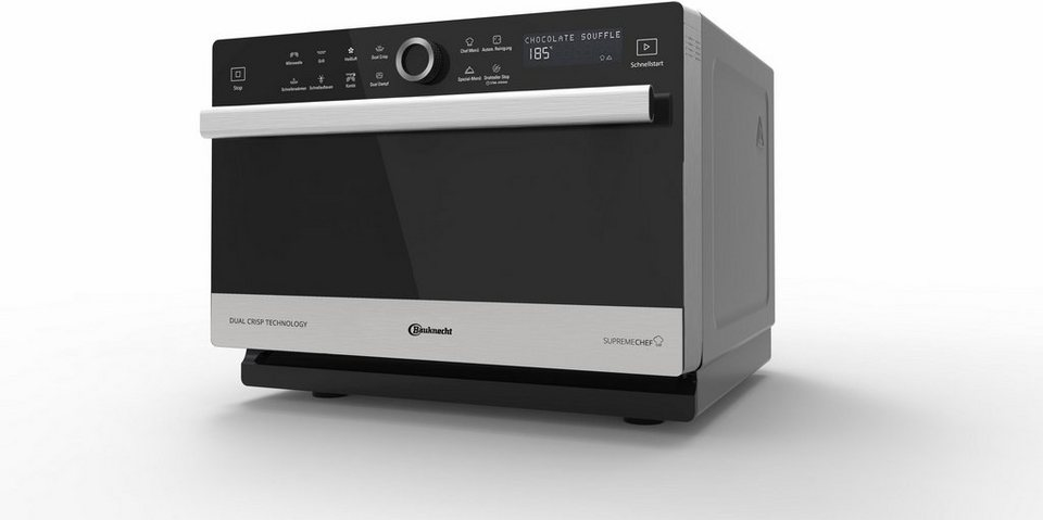 bauknecht mikrowelle mw 3391 sx 900 w mit grill und hei luft online kaufen otto. Black Bedroom Furniture Sets. Home Design Ideas