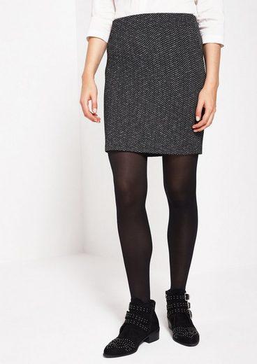 Comma Elegant Short Skirt With Herringbone
