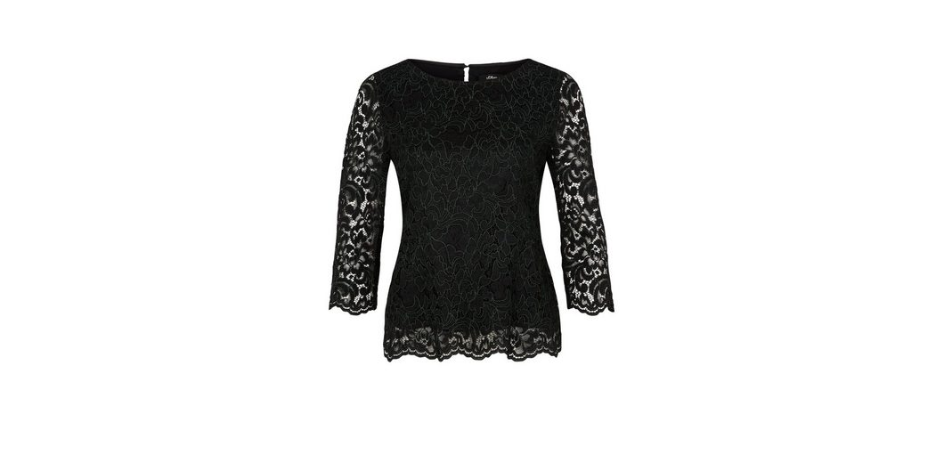 Günstig Kaufen Großen Verkauf s.Oliver BLACK LABEL Blusenshirt aus floraler Spitze Auslassstellen Verkauf Online Billig Verkaufen Mode Shop Für Günstigen Preis Austrittsstellen Online PWjTy