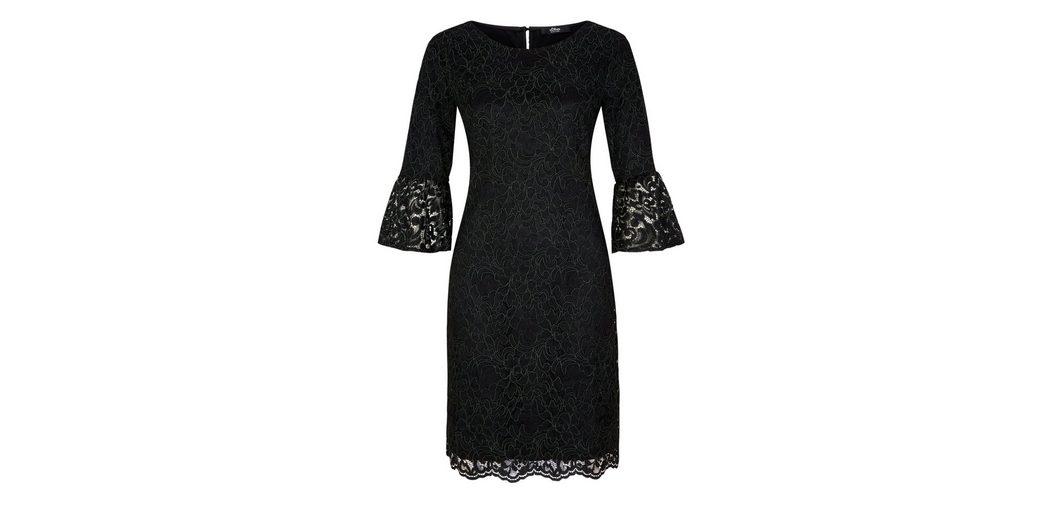 Rabatt Niedrigen Preis Versandgebühr Beliebt Günstig Online s.Oliver BLACK LABEL Edles Kleid mit floraler Spitze udA3FZnT