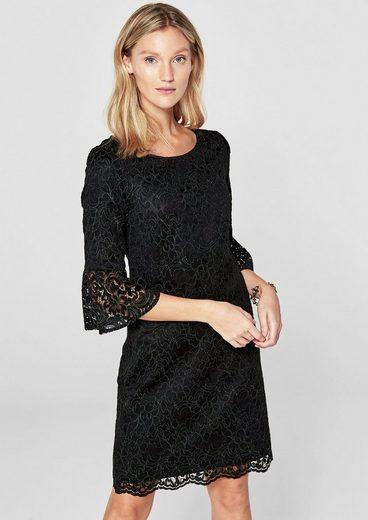 s.Oliver BLACK LABEL Edles Kleid mit floraler Spitze