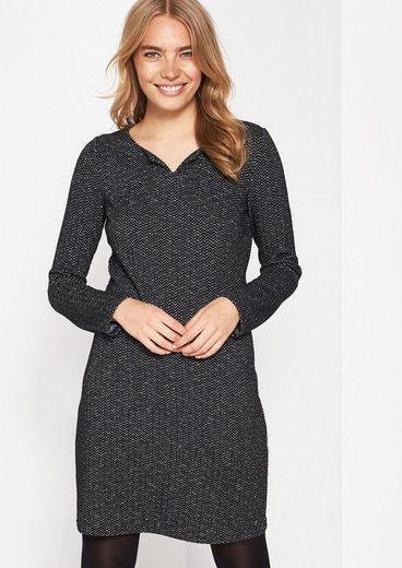 COMMA Lässiges Kleid mit Fischgrät-Muster