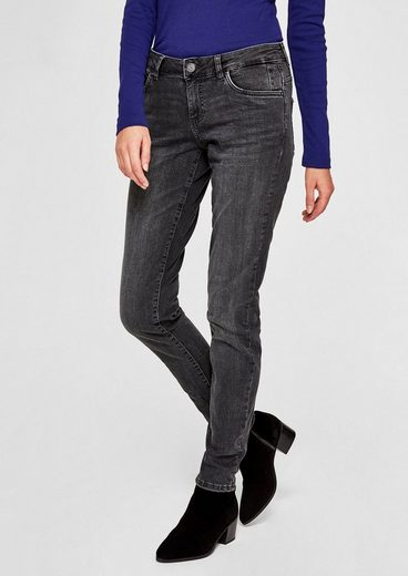 s.Oliver RED LABEL Shape Superskinny: Glitter-Jeans