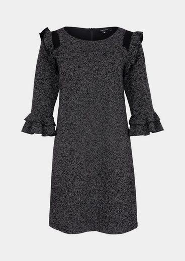 COMMA Elegantes Kleid in Salz & Pfeffer-Optik
