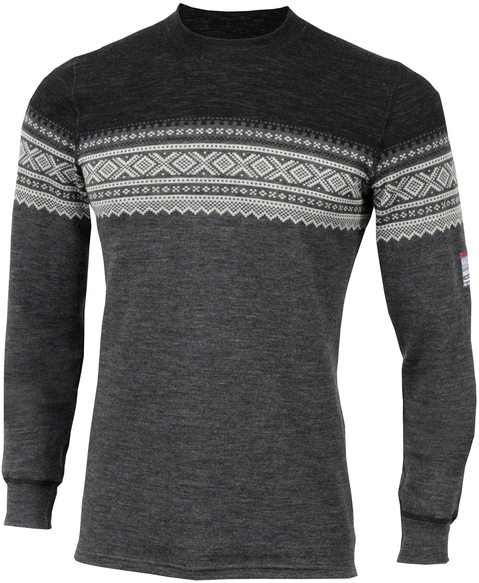 aclima sweatshirt designwool marius crew neck shirt men - Jacquard Muster