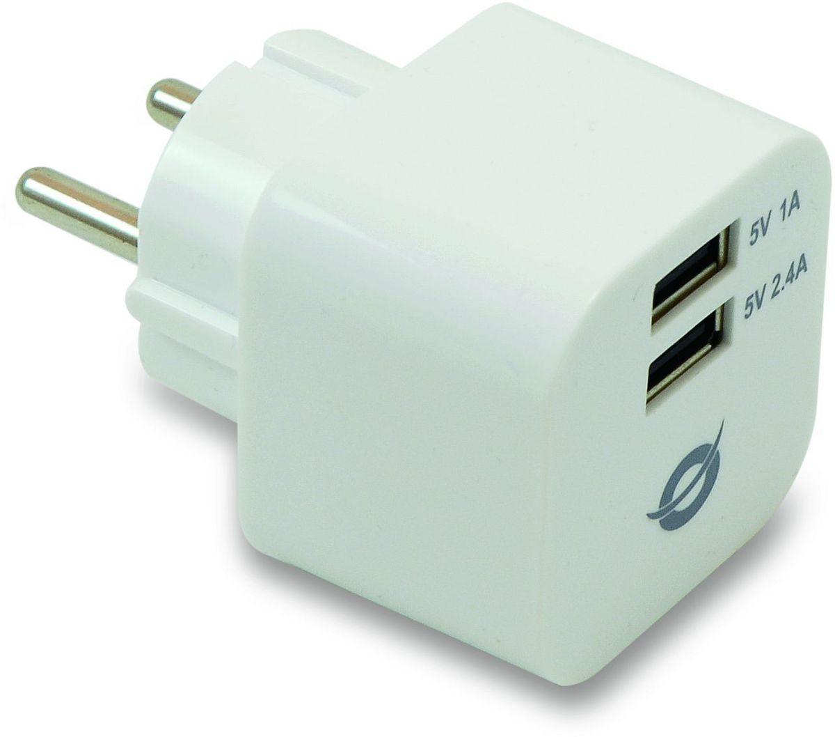 Conceptronic Lader »2-Port USB-Ladegerät, 3.4 A«