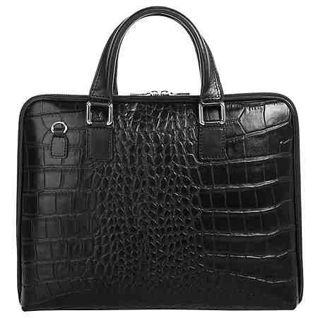 Business Taschen in vielen verschiedenen Varianten, aus schlichtem Leder bis hin zu Modellen aus attraktiv gemusterten Stoffen.