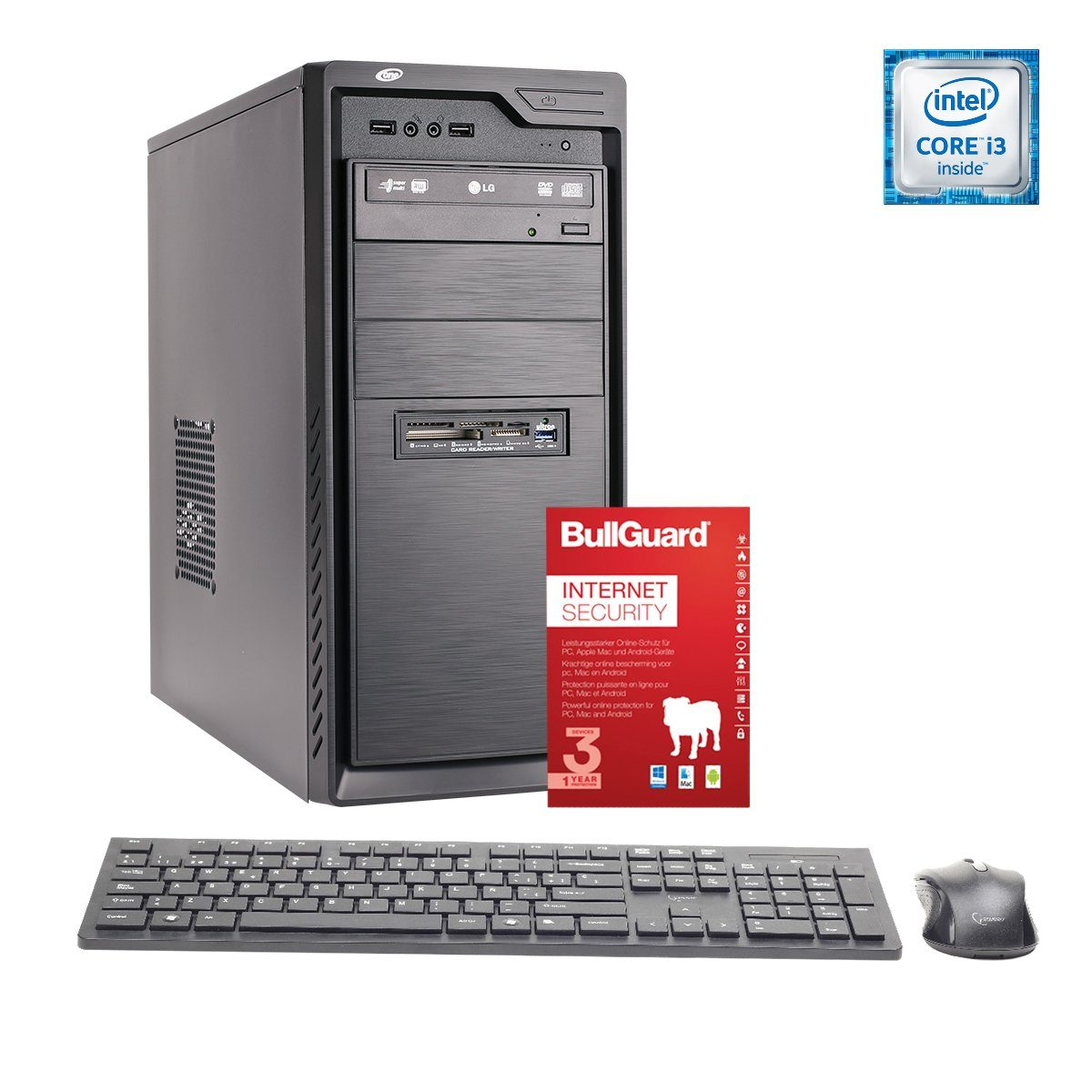 ONE PC, Core i3-7100, HD Graphics 630, 8GB DDR4 SDRAM »Office PC 44007«