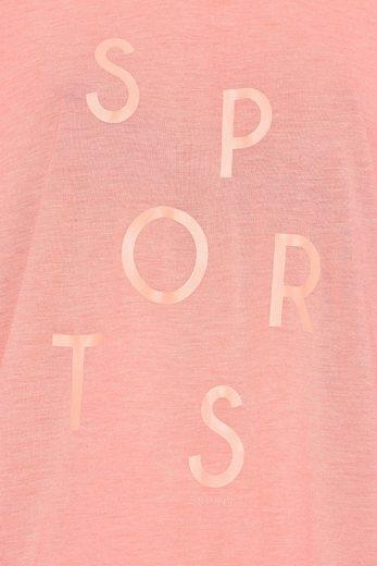 ESPRIT Fließendes Shirt aus Melange-Jersey