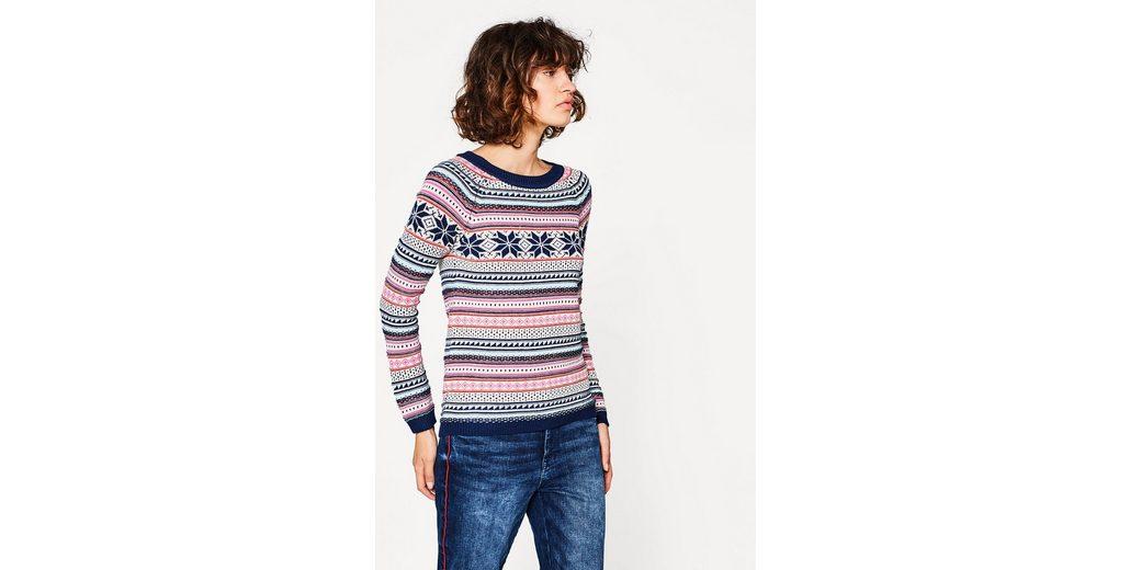 EDC BY ESPRIT Jacquard-Pullover aus Baumwoll-Mix Original- Kaufen Billige Angebote Beste Authentisch D4HAGpLs