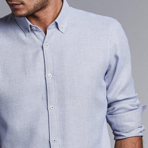 NEW IN TOWN Hemd mit Struktur-Dots