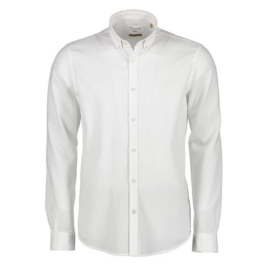 NEW IN TOWN Button-Down-Hemd in kleiner Waffelstruktur