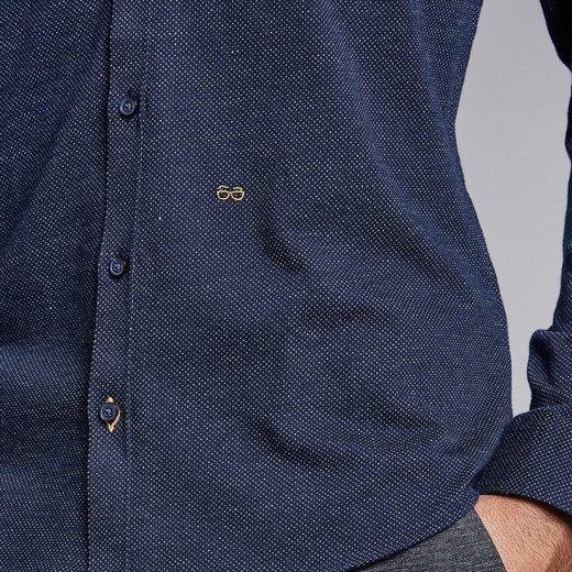 NEW IN TOWN Jersey Hemd mit kleinen Dots