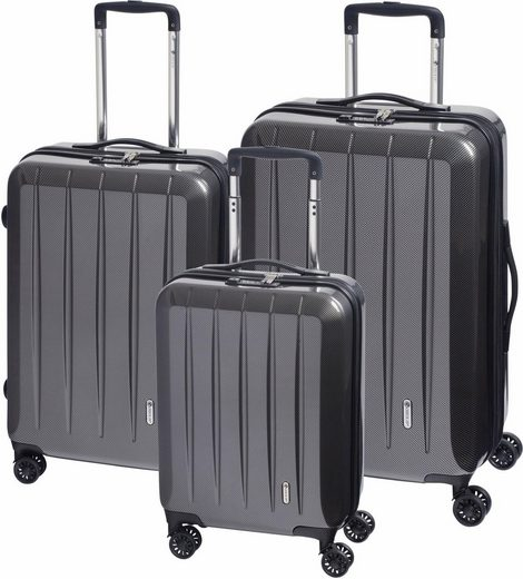 CHECK.IN® Trolleyset »London 2.0«, 4 Rollen, (Set, 3 tlg)