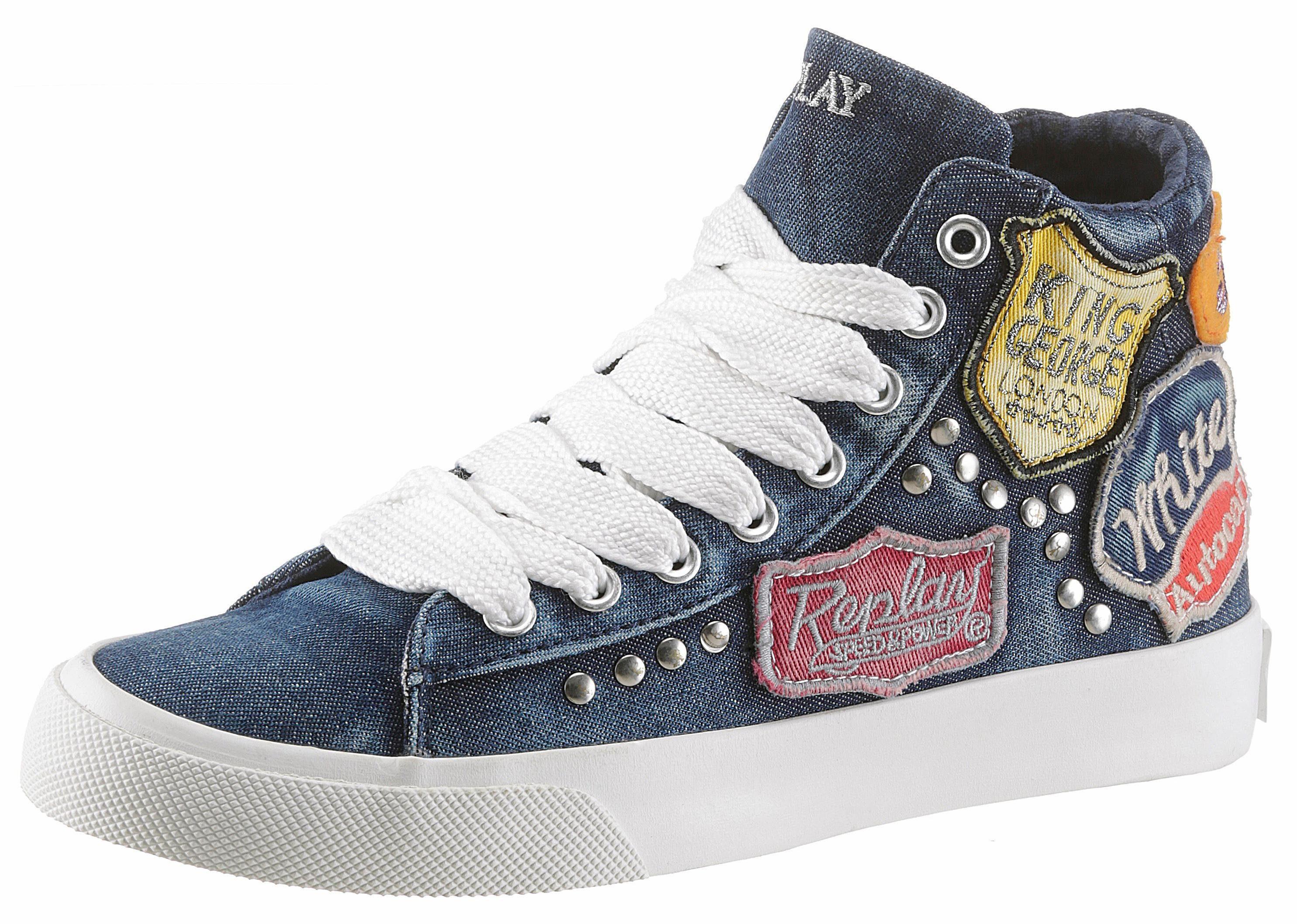 Replay Sneaker, mit Vintage-Patches online kaufen  jeansblau-multi