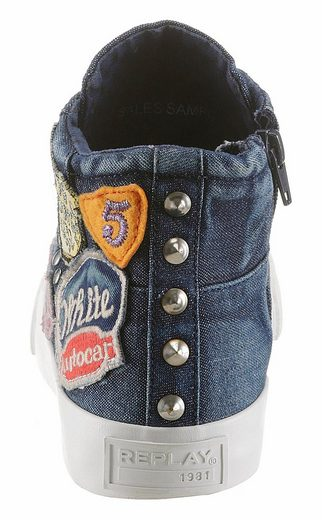 Replay Sneaker, mit Vintage-Patches