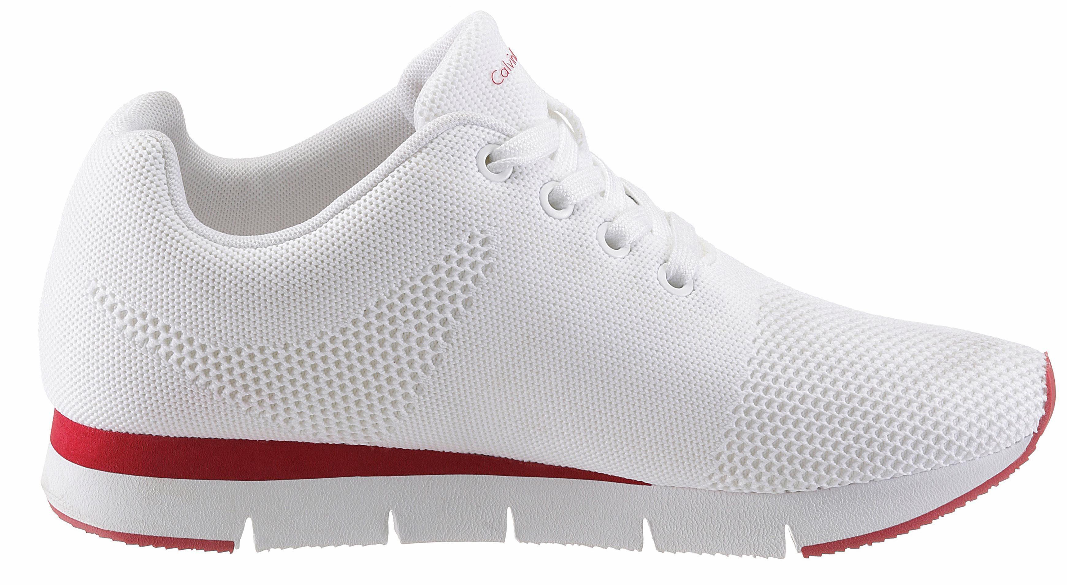 Calvin Klein Sneaker, mit rutschhemmender Gummilaufsohle online kaufen  weiß