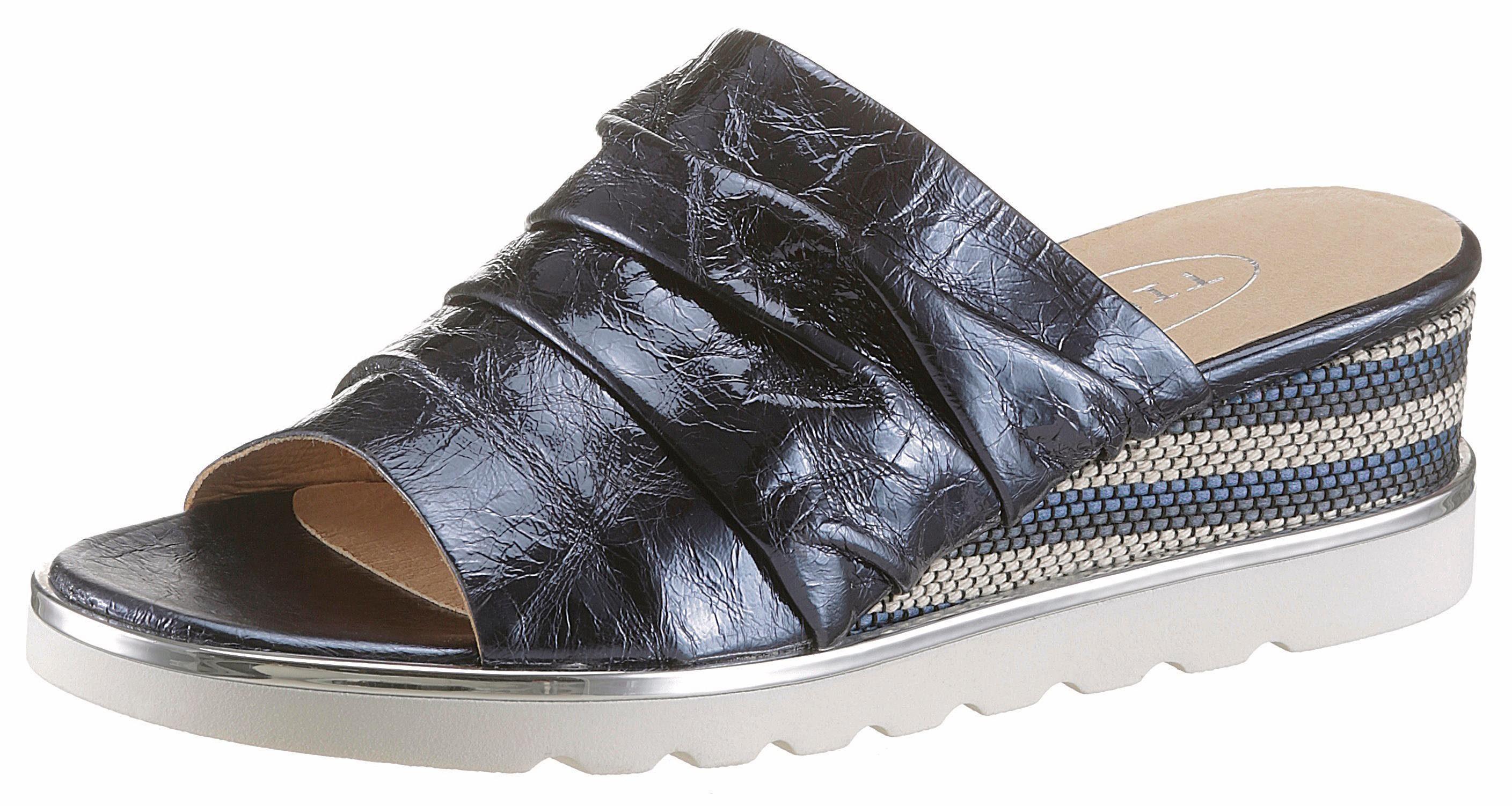 TINE'S Pantolette, in Crashoptik online kaufen  dunkelblau