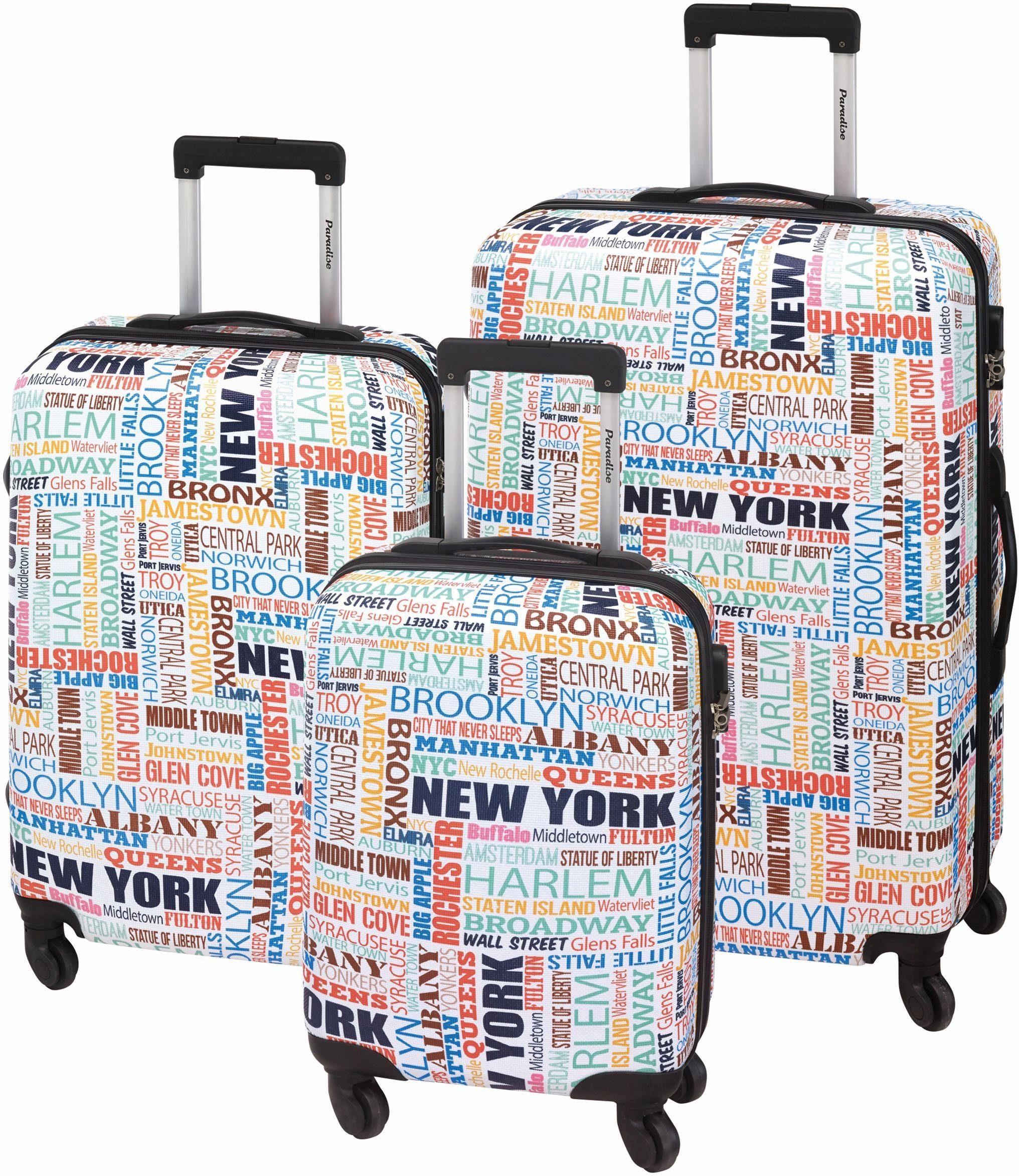Paradise® Hartschalentrolley Set mit 4 Rollen, 3-tlg., »New York«