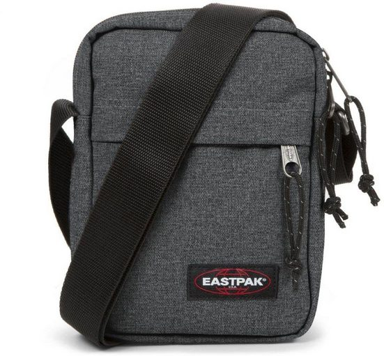 Eastpak Umhängetasche »THE ONE, Black Denim«, enthält recyceltes Material (Global Recycled Standard)