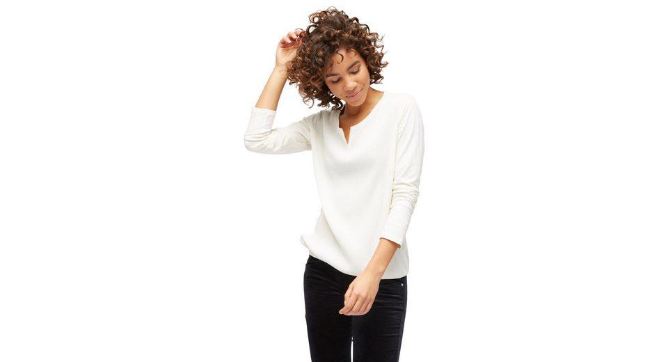 Bester Online-Verkauf Billig Rabatt Verkauf Tom Tailor Langarmshirt mit Plissées vorne Exklusive Online owmIByU
