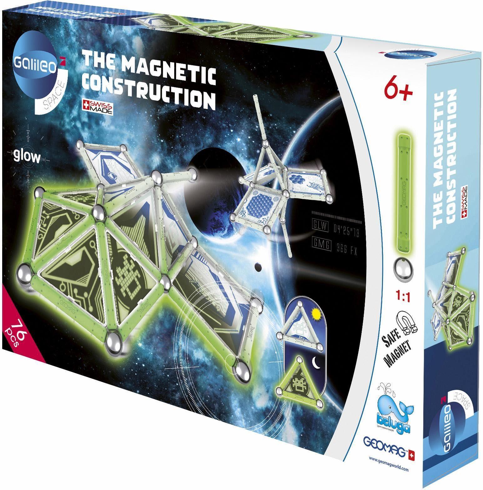 Geomag™ Konstruktionsspielzeug (76-tlg.), »Galileo Panels Glow«