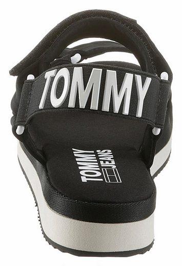 Tommy Jeans Sofia 2 Sandales À Lanières, Avec Logo Frappant À Larrière