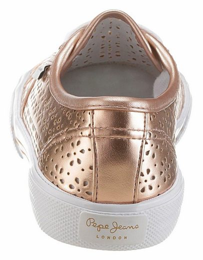 Pepe Jeans ABERLADY DAISY Sneaker, mit sommerlichem Lasercut
