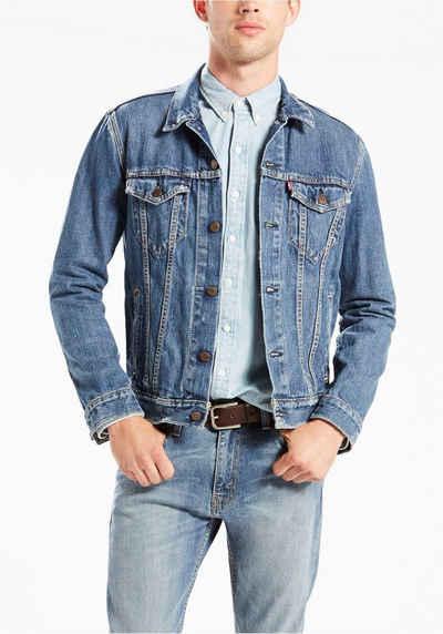 Levis jeansjacke herren grau