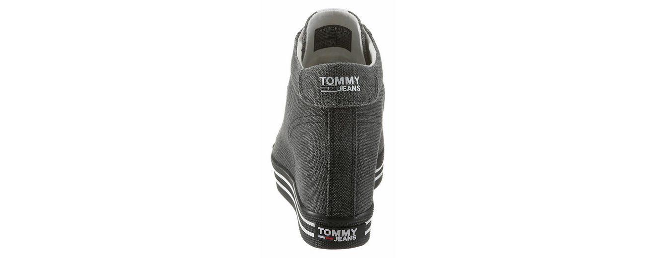 TOMMY JEANS Nice Wedge Sneaker, mit weich gepolstertem Schaftrand
