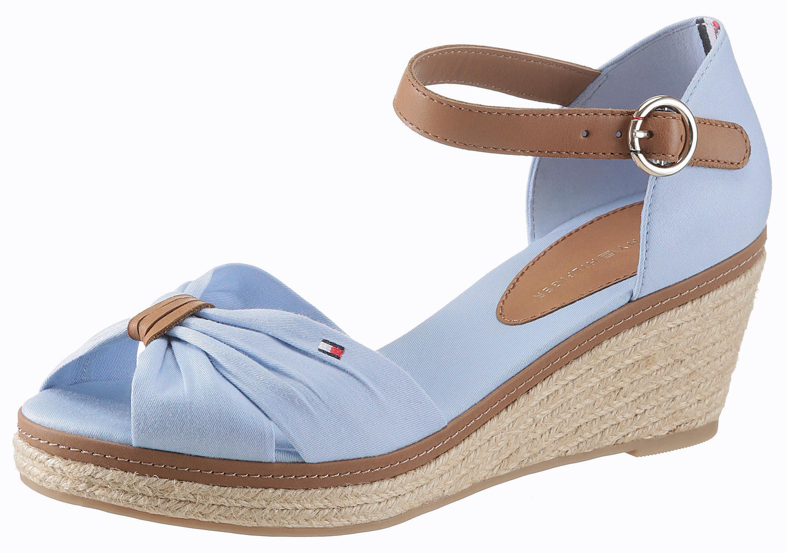 Tommy Hilfiger Elba 40 Sandalette, mit verstellbarem Riemchen online kaufen  hellblau