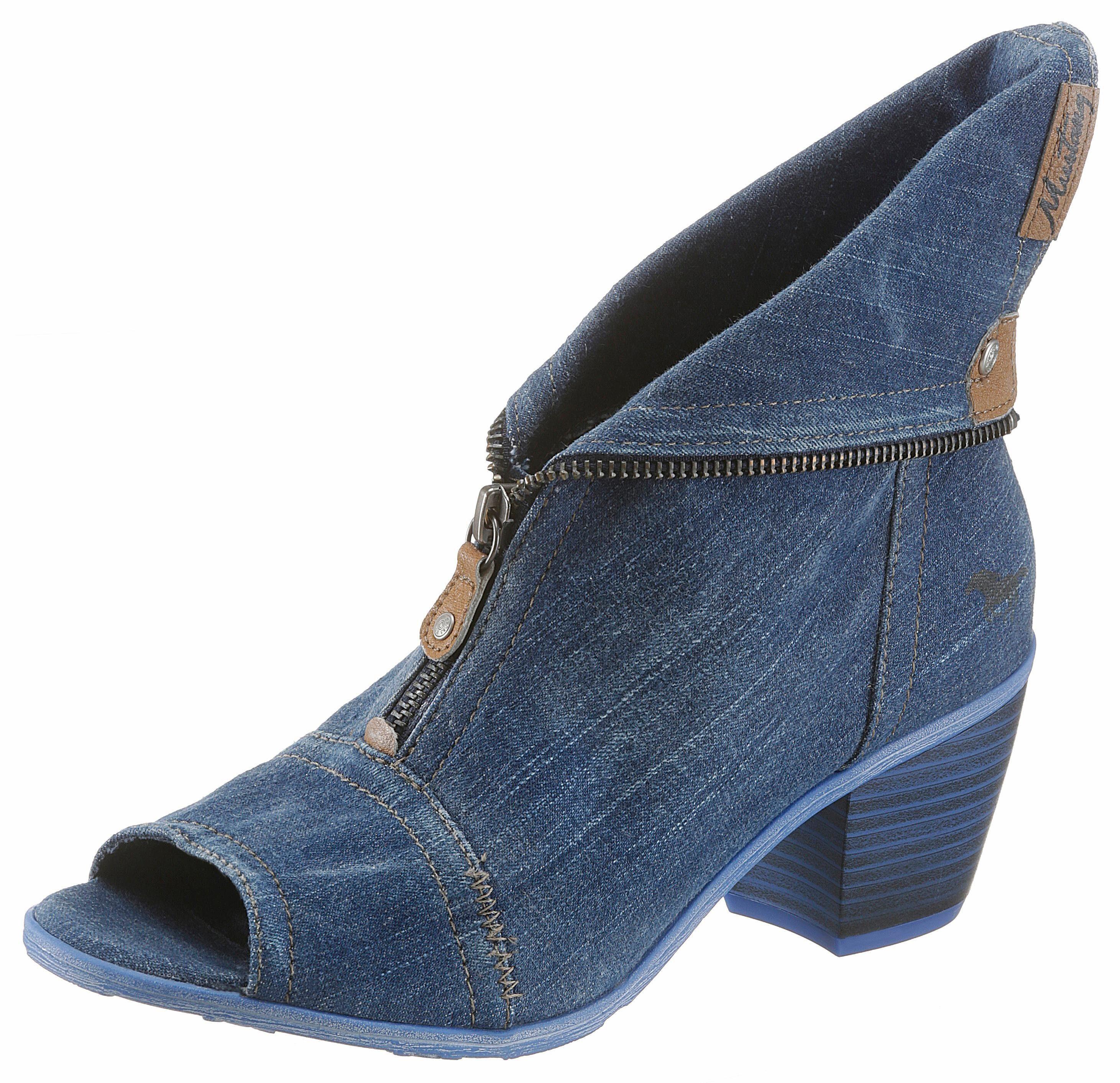 Mustang Shoes Sandalette, im Jeans Style, blau, jeansblau