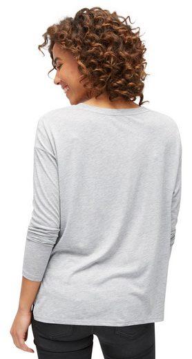 Tom Tailor Langarmshirt mit Foto-Print vorne
