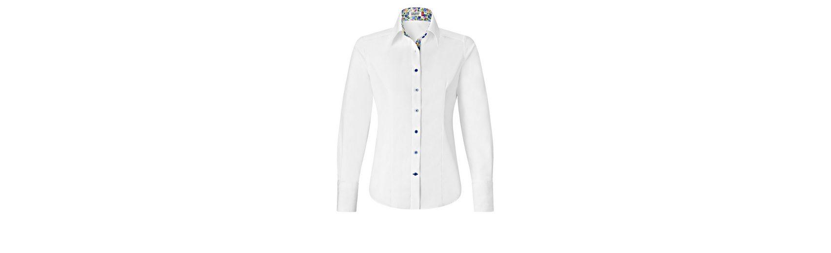 Verkauf Neuer Stile Original Zum Verkauf Vincenzo Boretti Bluse mit Kontrasteinlage Freies Verschiffen 100% Garantiert Online-Shopping Hohe Qualität FbVIxxA