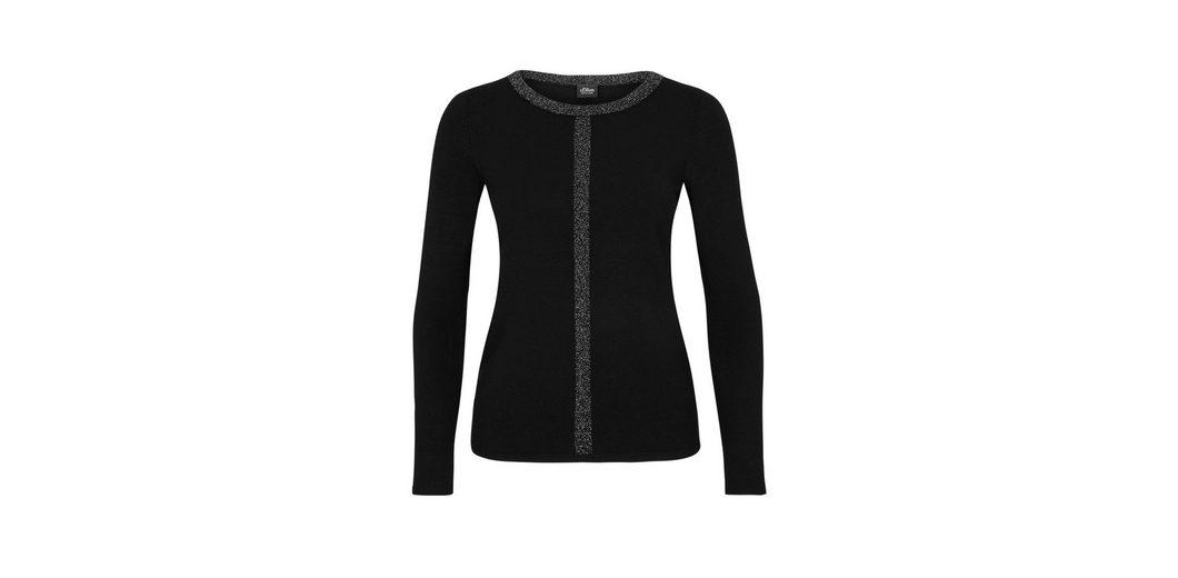 Verkauf Online-Shopping s.Oliver BLACK LABEL Melierter Jersey-Pullover Billig Verkaufen Wiki Rabatt 2018 Erhalten Authentisch Günstigen Preis MuoOo6J