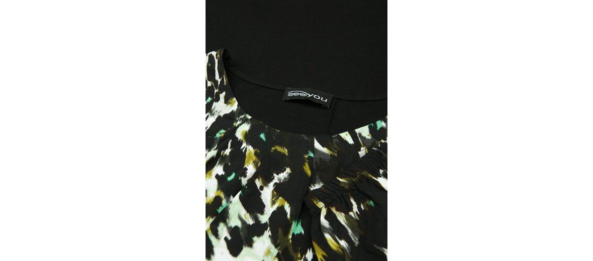 Finden Große Online Outlet Online-Shop seeyou Klassische Bluse mit Dschungel-Muster Besuchen Neu Zu Verkaufen Angebote Online-Verkauf vjG316