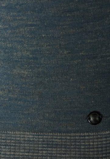 """Better Rich Strickpullover CREW SIMPLE, Transparente Streifen in """"Laufmaschen""""-Optik an den Seitennähten"""