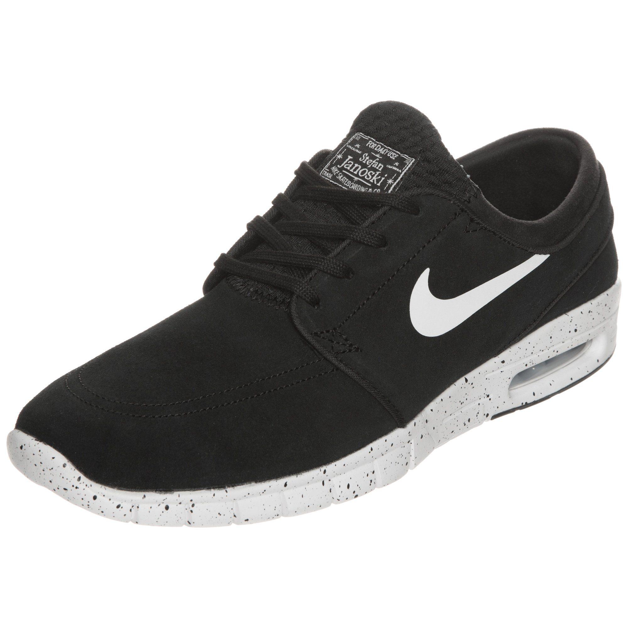 Nike SB Stefan Janoski Max Leather Sneaker  schwarz-weiß