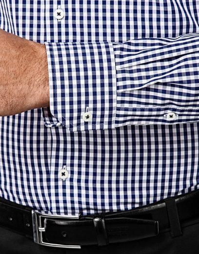 Vincenzo Boretti Hemd mit Kontrasteinlage