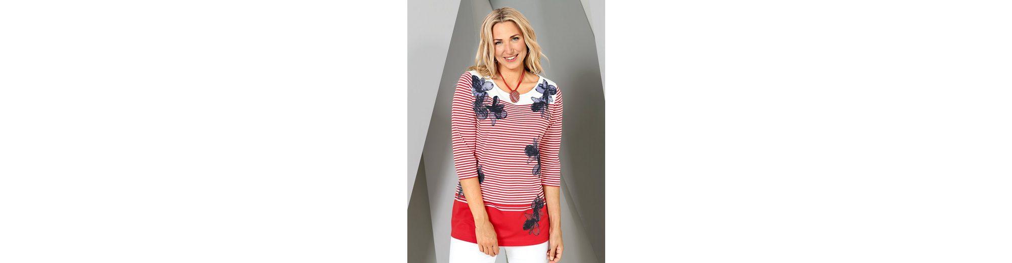 MIAMODA Shirt mit Streifen- und Blumenmuster  Beschränkte Auflage Limitierte Auflage Kosten Für Verkauf Modestil Freiraum Für Verkauf LjOhSjuS5N
