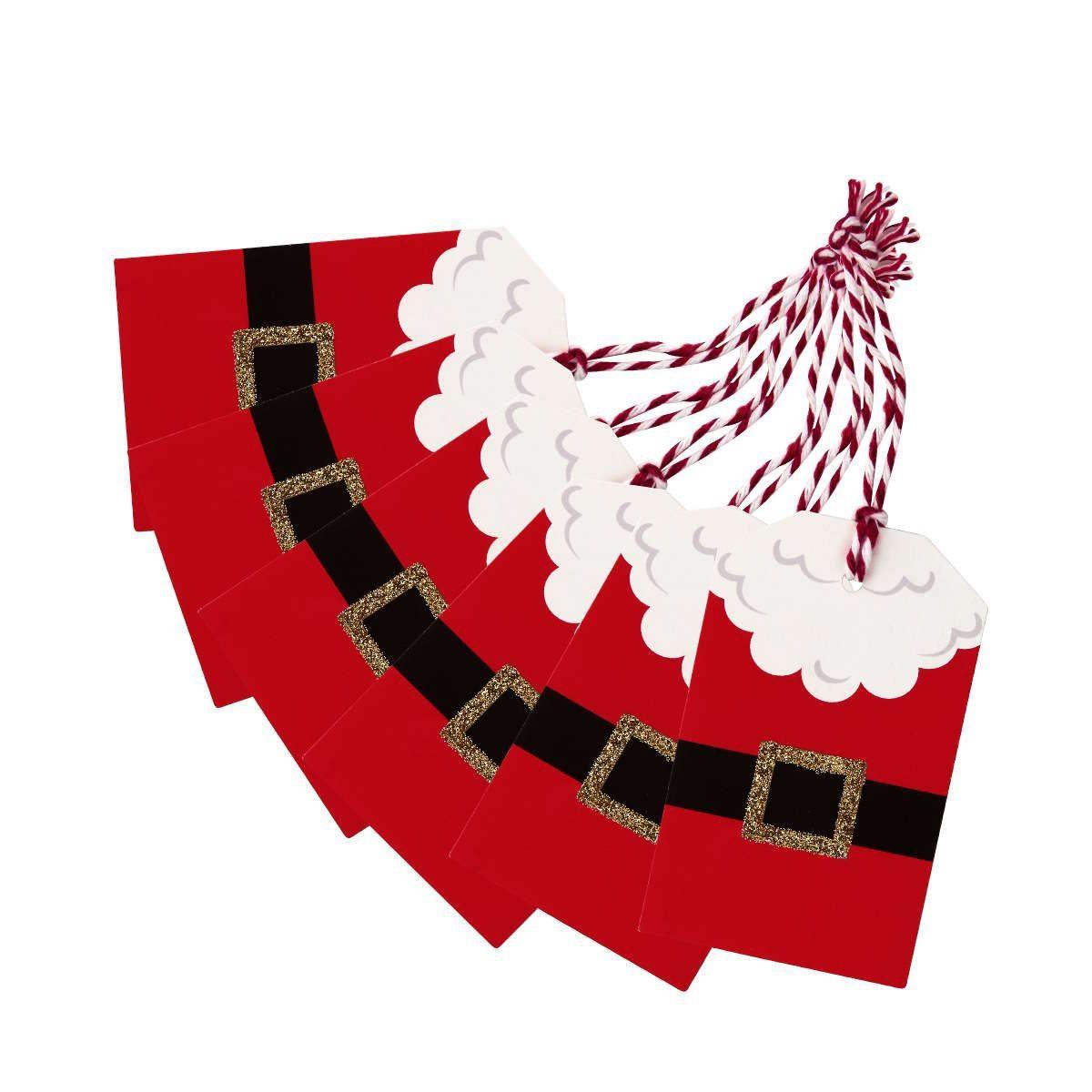 BUTLERS X-MAS »Geschenkanhänger Weihnachtsmann 6er-Set«
