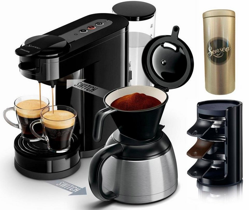 senseo kaffeepadmaschine senseo switch hd7892 60. Black Bedroom Furniture Sets. Home Design Ideas